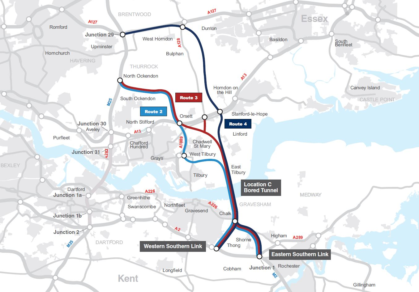 Motorway Map Of England.Lower Thames Crossing Consultation Highways England Citizen Space